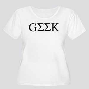 Greek Geek Women's Plus Size Scoop Neck T-Shirt