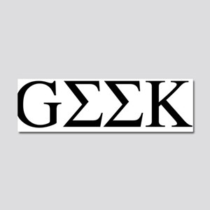 Greek Geek Car Magnet 10 x 3