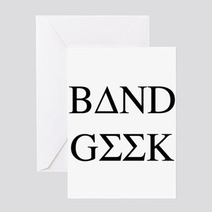 Greek Band Geek Greeting Card