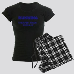 Running: Cheaper than therapy Women's Dark Pajamas
