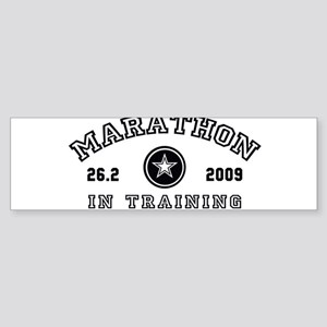 Marathon In Training Sticker (Bumper)