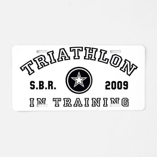 Triathlon - In Training Aluminum License Plate