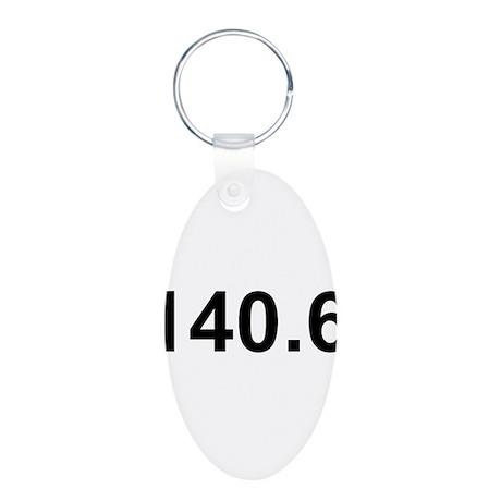 140.6 (Ironman Triathlon) Aluminum Oval Keychain