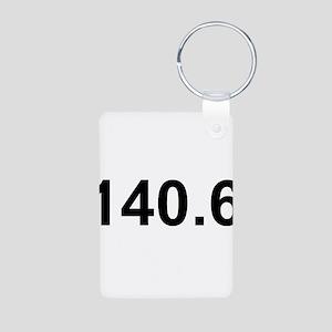 140.6 (Ironman Triathlon) Aluminum Photo Keychain