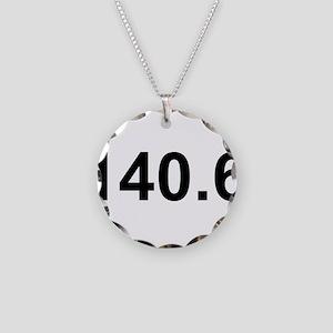 140.6 (Ironman Triathlon) Necklace Circle Charm