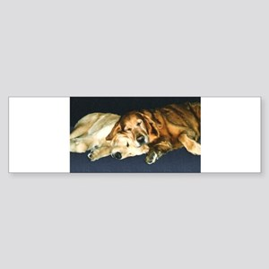 Old Friends Golden Retriever Sticker (Bumper)