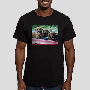 Golden Retriever Summer Drive Men's Fitted T-Shirt