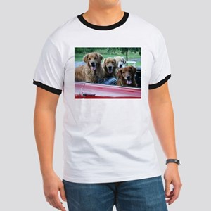 Golden Retriever Summer Drive Ringer T