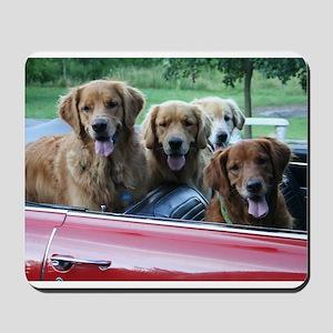 Golden Retriever Summer Drive Mousepad