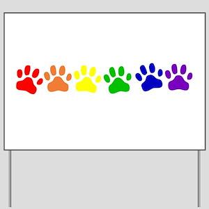 Rainbow Paws Yard Sign