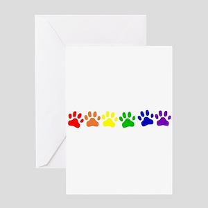 Rainbow Paws Greeting Card