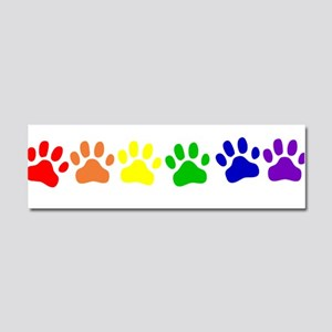 Rainbow Paws Car Magnet 10 x 3