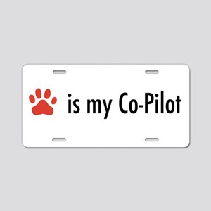 Dog is my Co-Pilot Aluminum License Plate