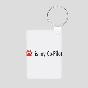 Dog is my Co-Pilot Aluminum Photo Keychain