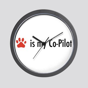 Dog is my Co-Pilot Wall Clock