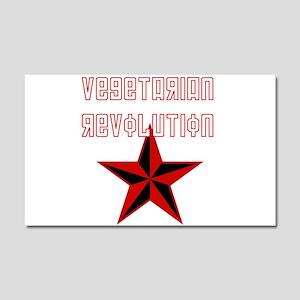 Vegetarian Revolution Car Magnet 20 x 12