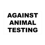 Against Animal Testing 38.5 x 24.5 Wall Peel