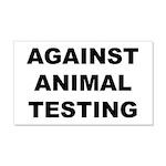 Against Animal Testing 22x14 Wall Peel
