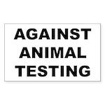 Against Animal Testing Sticker (Rectangle 50 pk)