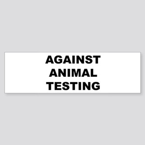 Against Animal Testing Sticker (Bumper)