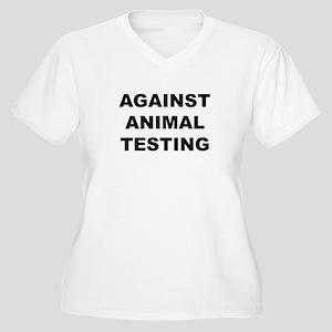 Against Animal Testing Women's Plus Size V-Neck T-