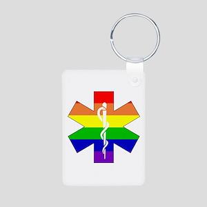EMS Pride Aluminum Photo Keychain