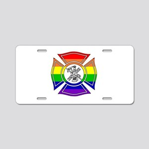 Fire Pride Aluminum License Plate