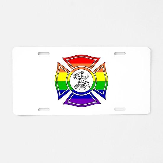 Fire Pride Aluminum License Plate