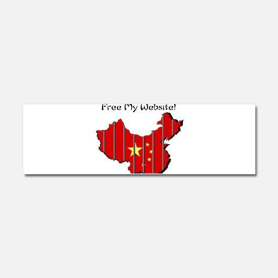 Free My Website! Car Magnet 10 x 3
