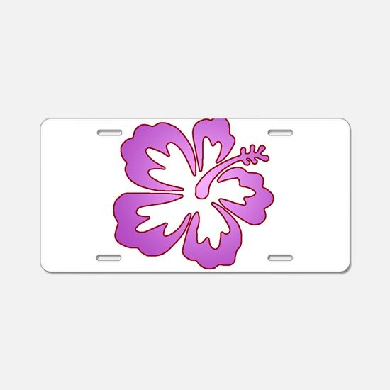 Surf Flowers (Purple with Red Aluminum License Pla