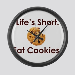 Life's Short. Eat Cookies. Large Wall Clock