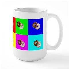 Andy Warhola Bagels Large Mug