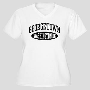 Georgetown Washington DC Women's Plus Size V-Neck