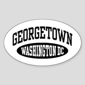 Georgetown Washington DC Sticker (Oval)
