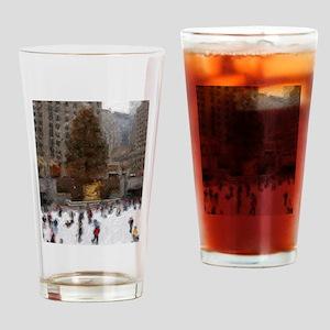 Rockefeller Center Tree Drinking Glass