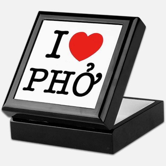 I Love (Heart) Pho Keepsake Box