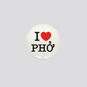 I Love (Heart) Pho Mini Button