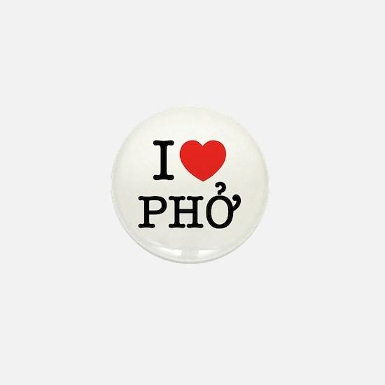 I Love (Heart) Pho Mini Button