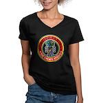 Monster fantasy 2 Women's V-Neck Dark T-Shirt