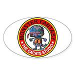 Monster fantasy 3 Sticker (Oval)