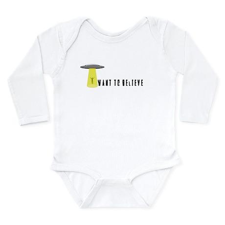 I Want To Believe Long Sleeve Infant Bodysuit