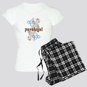 Paralegal Gift Floral Swirl Women's Light Pajamas