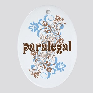 Paralegal Gift Floral Swirl Ornament (Oval)