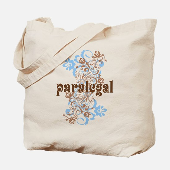 Paralegal Gift Floral Swirl Tote Bag