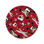 "Cute Turban Pirate 3.5"" Button (100 Pk)"