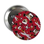 "Cute Turban Pirate 2.25"" Button"