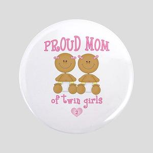"Ethnic Twin Girls 3.5"" Button"