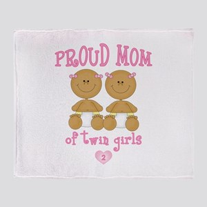 Ethnic Twin Girls Throw Blanket