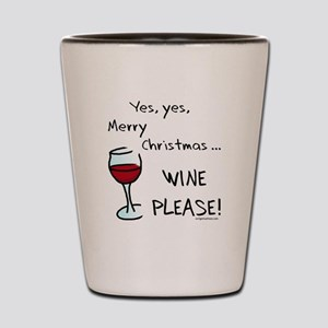 Christmas wine Shot Glass