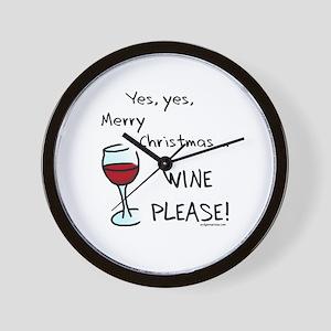 Christmas wine Wall Clock